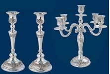 candlesticks judaica shabbat from israel jewisheart com