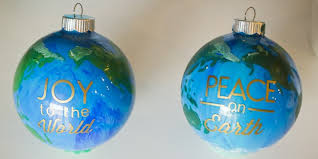 peace on earth diy ornaments design dazzle