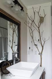Free Bathroom Makeover - salvaged farmhouse bathroom makeover with vintage trimfunky junk