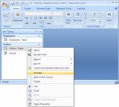 how to create a table in access ms access 2007 hide tables as system tables
