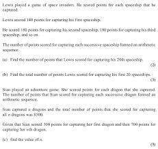 exam questions arithmetic sequences and series examsolutions