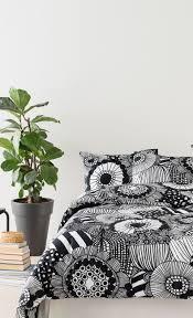 siirtolapuutarha duvet cover 150x210 cm white black marimekko com
