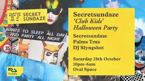 kids halloween party flyers ra tickets secretsundaze u0027club kids u0027 halloween party with palms