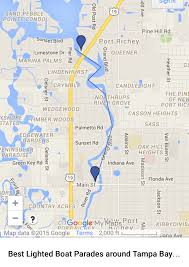 Map Of Tampa Florida 2015 Complete Free Guide To All Tampa Bay Holiday Lighted Boat
