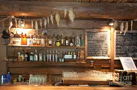 bar decor bar with a rustic decor photograph by jaak nilson