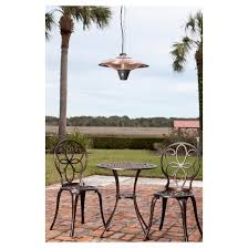 Fire Sense Table Top Patio Heater Gunnison Hanging Halogen Patio Heater Brushed Copper Fire