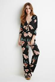 forever 21 jumpsuits forever 21 self tie knotted floral jumpsuit where to buy how