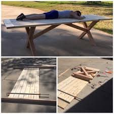 Wooden Picnic Tables With Separate Benches Picnic Table With Detached Benches 9 Steps With Pictures