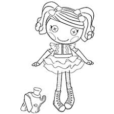 16 lalaloopsy coloring pages snow trees sew pretty