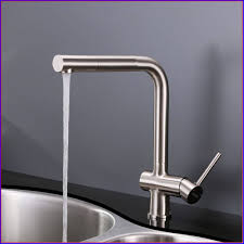 nickel hands free kitchen faucet deck mount single handle pull