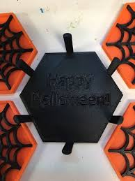 halloween coasters 3d printed coaster stand for halloween web coasters by brooktrout