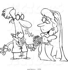 vector cartoon groom allergic bride u0027s bouquet