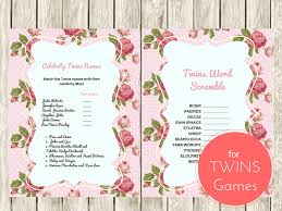 celebrity baby shower invitations twins word scramble game celebrity twins names twin boys twin