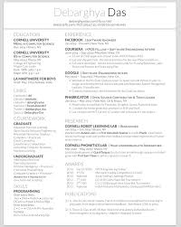 Sample Resume For Internship In Computer Science by Github Deedy Deedy Resume A One Page Two Asymmetric Column
