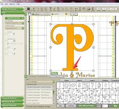 Cricut Craft Room Software - the non crafty crafter cricut ccr making a split letter monogram
