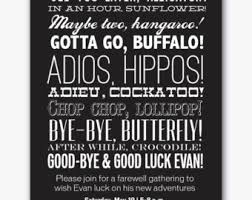 going away party invitations farewell invitation etsy