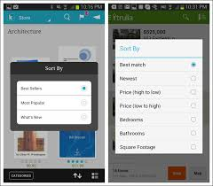 android pattern matching 4 search sort and filter mobile design pattern gallery 2nd