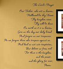 amazon com the lord u0027s prayer vinyl wall decals quotes sayings