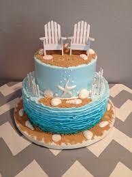 Cake Decorations Beach Theme - beach themed bridal shower cake made by teresa lynn cakes llc