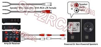 speaker wire to rca adapter kit