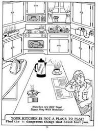 coloring pages of kitchen things go back gallery for kitchen safety coloring pages diy kids
