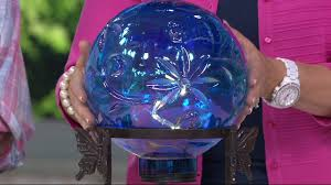 History Of Gazing Ball Led Glass Gazing Ball With Metal Stand By Evergreen On Qvc Youtube