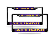 lsu alumni license plate majestic lsu tigers ncaa license plate frames ebay