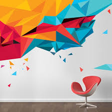abstract wall abstract triangles wall transfers environmental graphics and