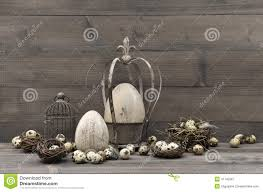 antique easter decorations vintage easter decoration shabby chic still stock photo
