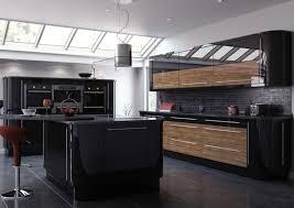 cuisine en bois design stunning cuisine noir mat et bois contemporary design trends awesome