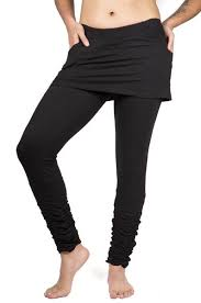 Yoga Pants With Skirt Attached Women U0027s Bottoms U2013 Mishu Boutique