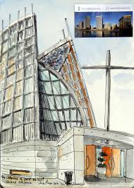 urban sketchers s f bay area the cathedral of christ the light