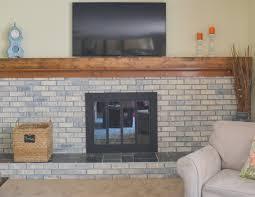 a fireplace update u2013 whitewashing the brick painting the brass