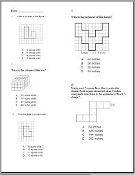 perimeter area and volume worksheets worksheets