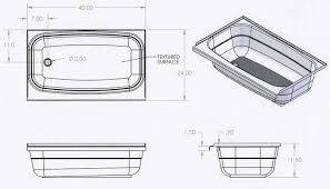 Length Of A Bathtub Bathroom Excellent Bath Tubs For Rv And Trailer Use With Regard To