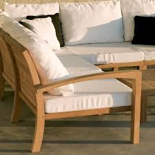 teak outdoor sectional sofa contemporary patio chicago by