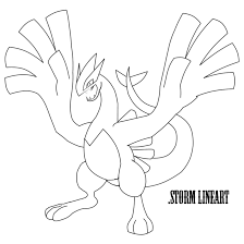 lugia coloring page free download