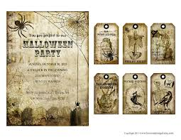 free halloween gift tags vintage halloween tea party invitation labels gift tags note