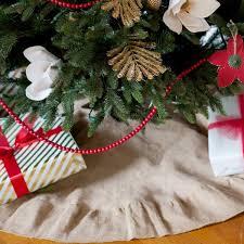 burlap christmas burlap christmas tree skirt hangin by threadz
