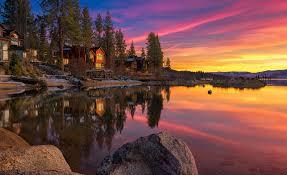 lake tahoe summer cabins wallpaper