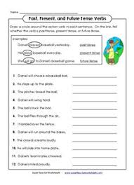 past present and future tense verbs super teacher worksheets