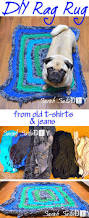 diy rag rug from old jeans and t shirts purple patch diy crafts blog