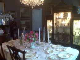 elegant tablescape in a beautiful dining room