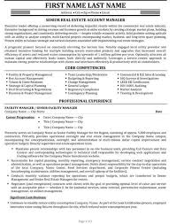 Facility Manager Resume Real Estate Manager Resume Real Estate Resume Samples Visualcv
