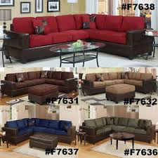 chocolate sectional couch 2 pc sofa loveseat wedge microfiber