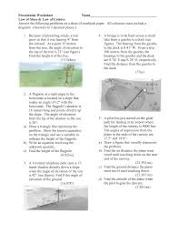 precalculus worksheet
