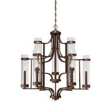 Maurice Chandelier Globe Bronze Chandeliers Hanging Lights The Home Depot