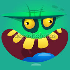 halloween vector cartoon zombie face vector icon cute square avatars for halloween