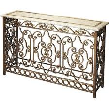 Wrought Iron Sofa Tables by Wrought Iron Sofa Console Table Wayfair