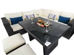 rattan corner sofa tuscany black rattan corner sofa and dining table
